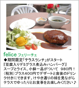 ferlice(フェリーチェ) テラスランチ
